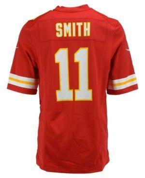 Nike Men's Alex Smith Kansas City Chiefs Game Jersey  - Red L