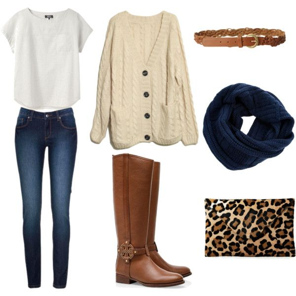 so simple, i love it. #cozy #fall #oversizedsweater #boots #leopard #scarf #navy