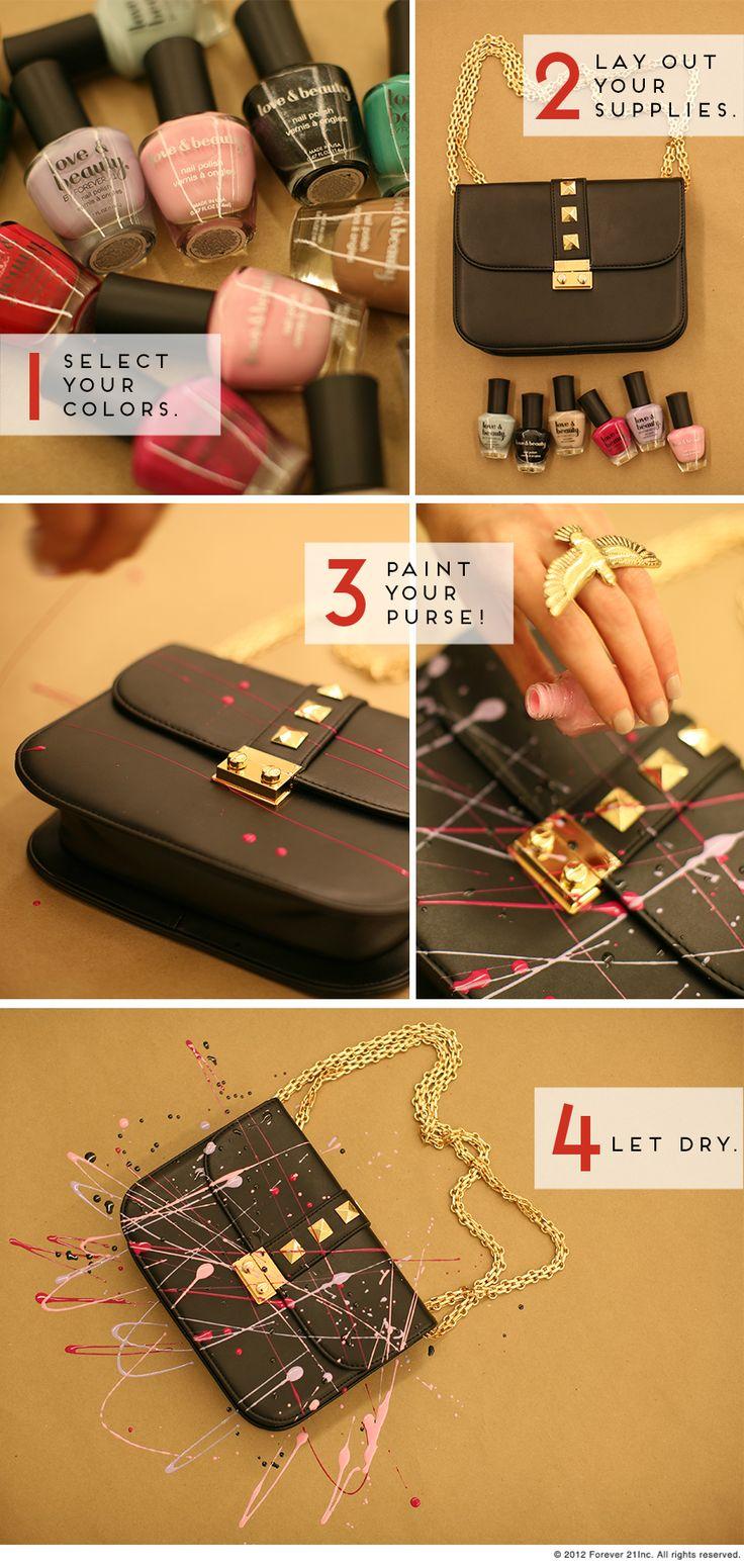Great idea! Finally I can put to good use those nail polishes...