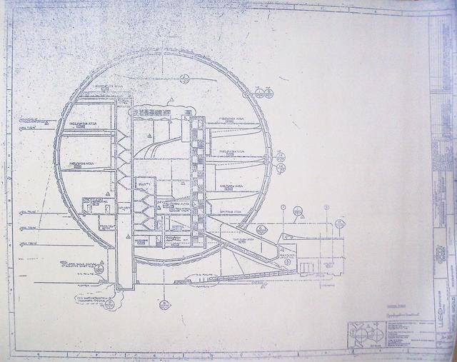 Walt Disney World EPCOT Spaceship Earth Sections View Blueprint by BlueprintPlace on Etsy https://www.etsy.com/listing/117472353/walt-disney-world-epcot-spaceship-earth
