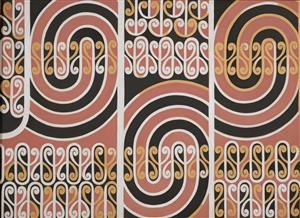 Theo Schoon. Untitled (koru panel). Collections Online - Museum of New Zealand Te Papa Tongarewa