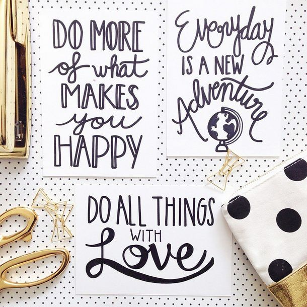 """Do more of what makes you happy!"" Daily inspiration and smiles by Shopify on Instagram (Image by Casas & Lulu)"