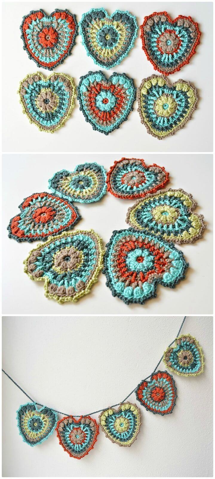 Free Crochet My Hearty Garland Pattern - Crochet Garland Pattern - 73 Free Crochet Garland Ideas - DIY & Crafts