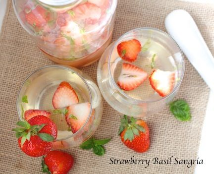 Strawberry Basil Sangria  - Powered by @WP Ultimate Recipe