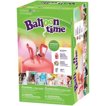 "Balloon Time 9.5"" Helium Balloon Tank Kit with 30 Balloons - Walmart.com"
