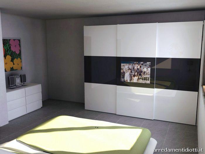 Camera l 39 ego e armadio spazio con tv integrata diotti a for Ego arredamenti