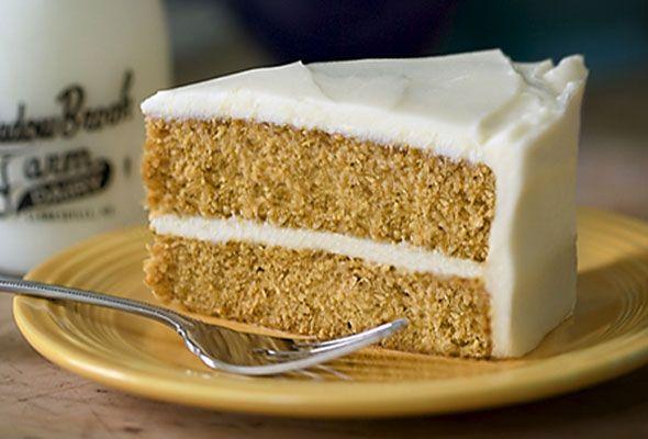 Pumpkin Cake With Maple–Cream Cheese Frosting #pumpkin #cake #dessert