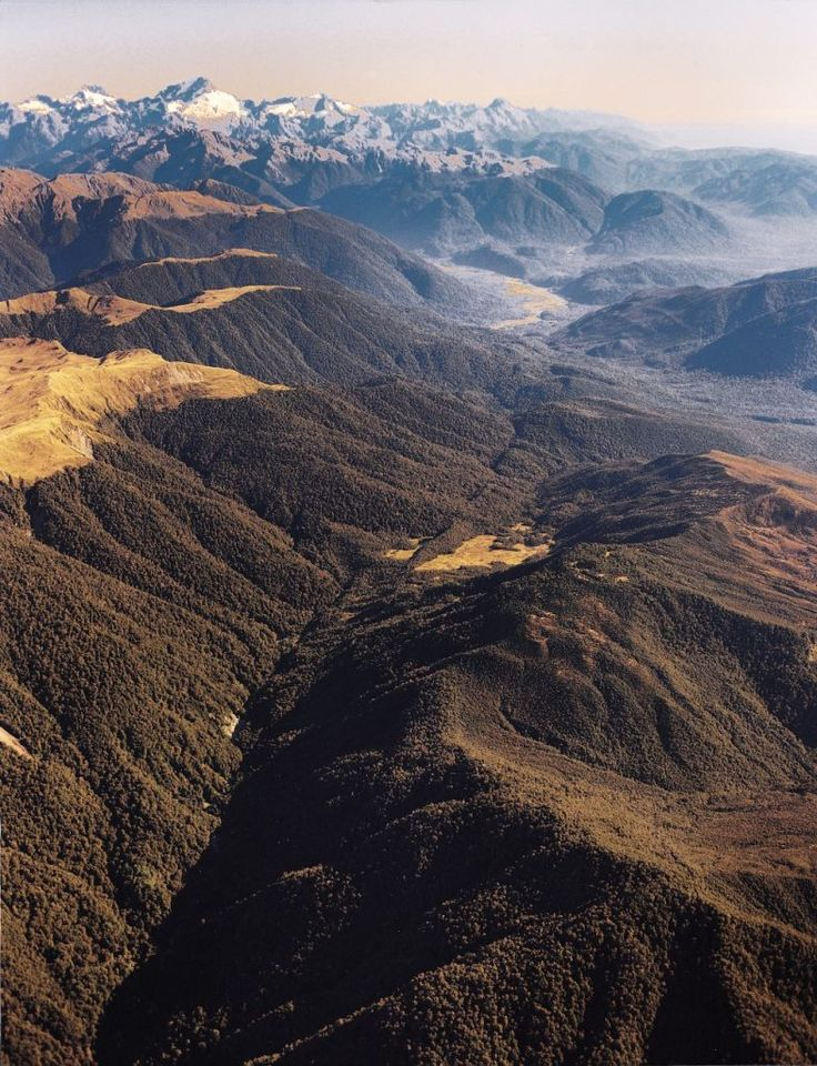 The Alpine Fault on New Zealand's South Island is clearly visible from the air. This fault, which is similar to California's San Andreas Fault is capable of producing large magnitude earthquakes. (Photo from New Zealand Geographic)