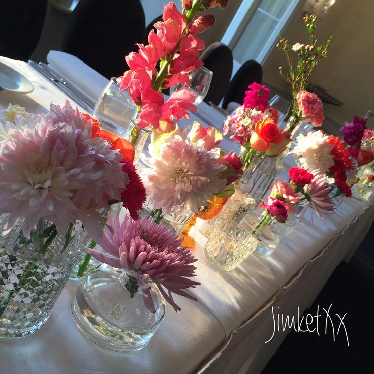 Wedding bridal table florals