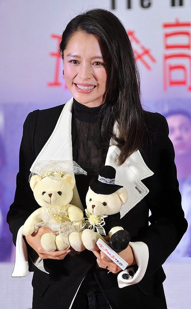 """Taiwanese actress Vivian Hsu showed up at a press conference for her new movie """"Lock Me Up, Tie Him Down"""" in Beijing, China, February 28"""