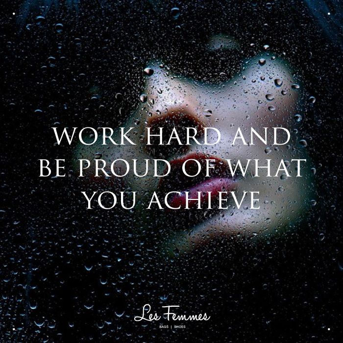 Work hard and be proud of what you achieve. Good morning, ladies!