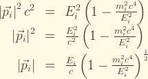 energy momentum relation from special relativity
