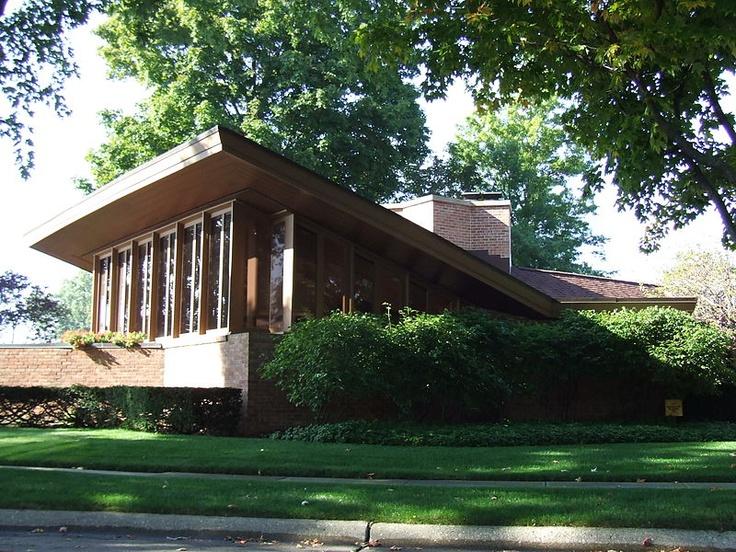 Dr. R. Bradford Harper Residence, St. Joseph MI, 1950, Frank Lloyd Wright