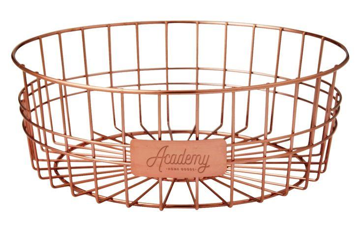 NEW ORWELL COPPERTONE SERVING BASKET Copper Tone Bread Serve Plate ROUND