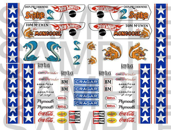 9 99 Snake And Mongoose Decals Water Slide1 12 1 18 1 24 Or 1 32 Scale Ebay Home Garden Snake And Mongoose Decals Water Hot Wheels