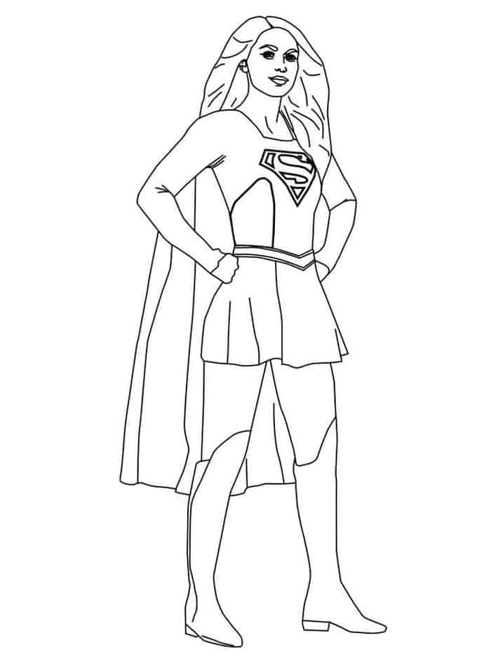 Supergirl Kara Danvers Coloring Pages In 2020 Mom Coloring Pages Superhero Coloring Superhero Coloring Pages