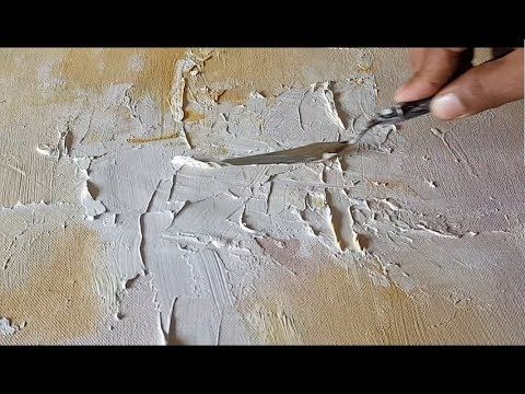 (1647) Abstract Painting / Texture / Jesso and Acrylic / Demonstration – YouTube