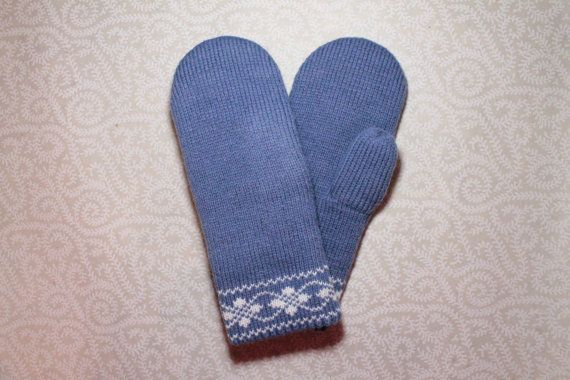 SALE: Hand-made adult mittens by LanaNere on Etsy
