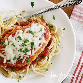 Baked Chicken Parmesan a lite version of this dish. While this dish is cooking, you can be preparing a salad.