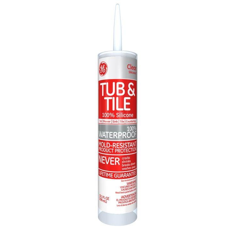 GE Silicone GE612 10.1 Oz Silicone Tub & Tile Sealant