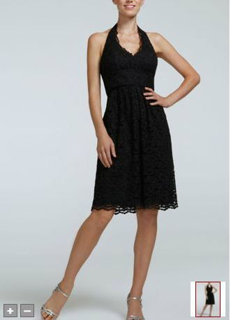 Short halter lace dress style f15623