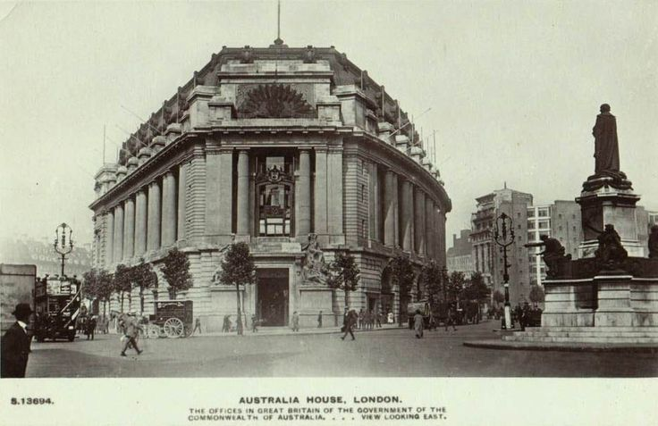 """The Australia House, London   Tube: Temple  """"From Westminster you can either take the tube to Temple, or if you've got time to spare, walk on over to see the Australia House. Built during WWI to be the home of the Australian Embassy, this building's exterior was the inspiration for the films' version of Gringott's Wizarding Bank.   (hp 9)"""