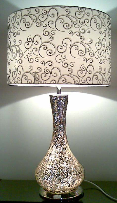 White and glass lamps for bedroom nightstands classy for Bedroom nightstand lamps