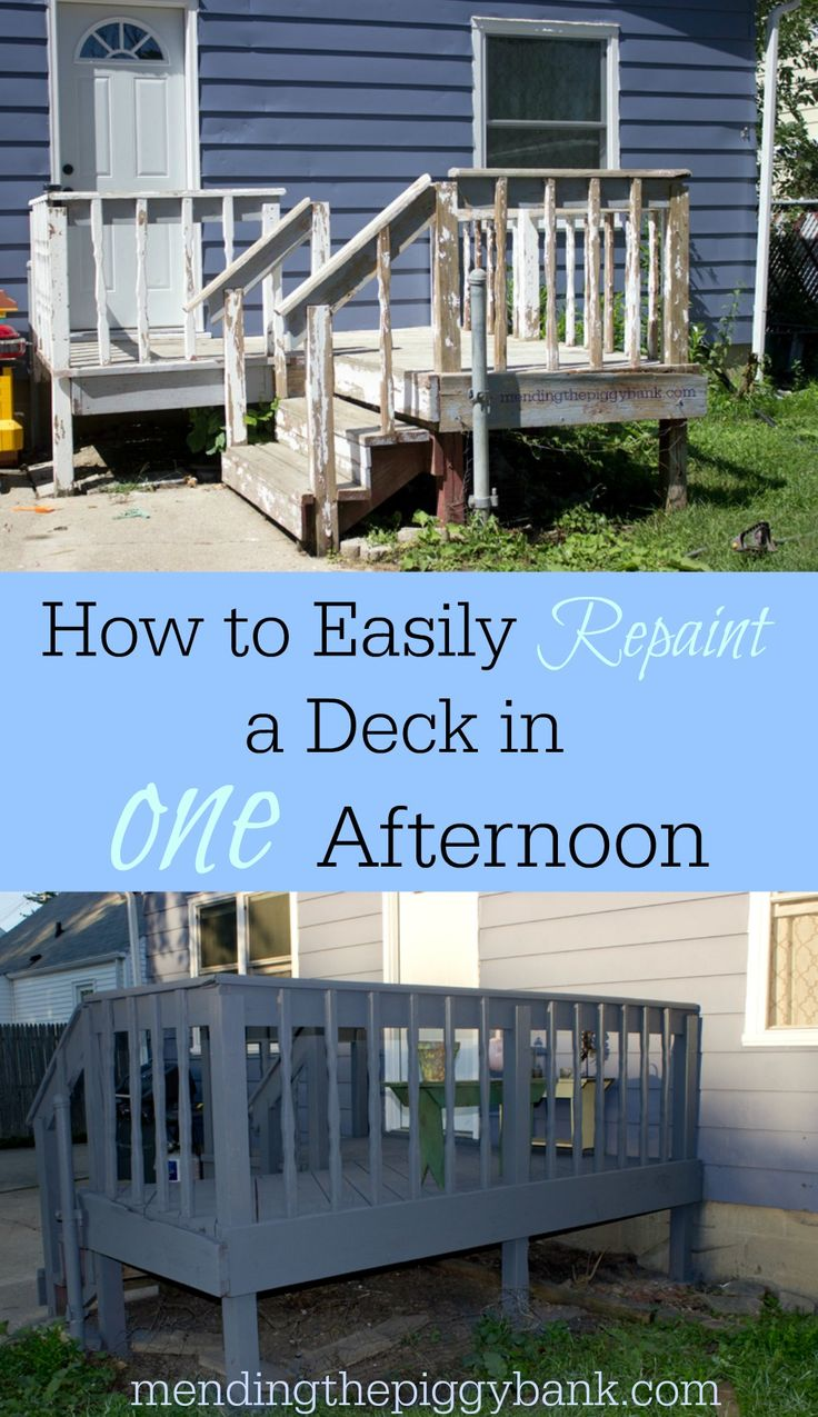 How to Easily Repaint a Deck in One Afternoon -- See how we were able to turn this chipping, dirty back deck into a peaceful retreat in just one afternoon with a DIY paint sprayer project! The Flexio 590 made such quick work of an otherwise labor intensive home repair.