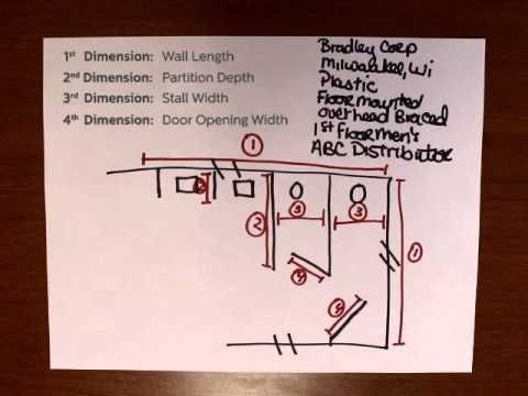 ▶ How To Measure for Restroom Partitions - YouTube