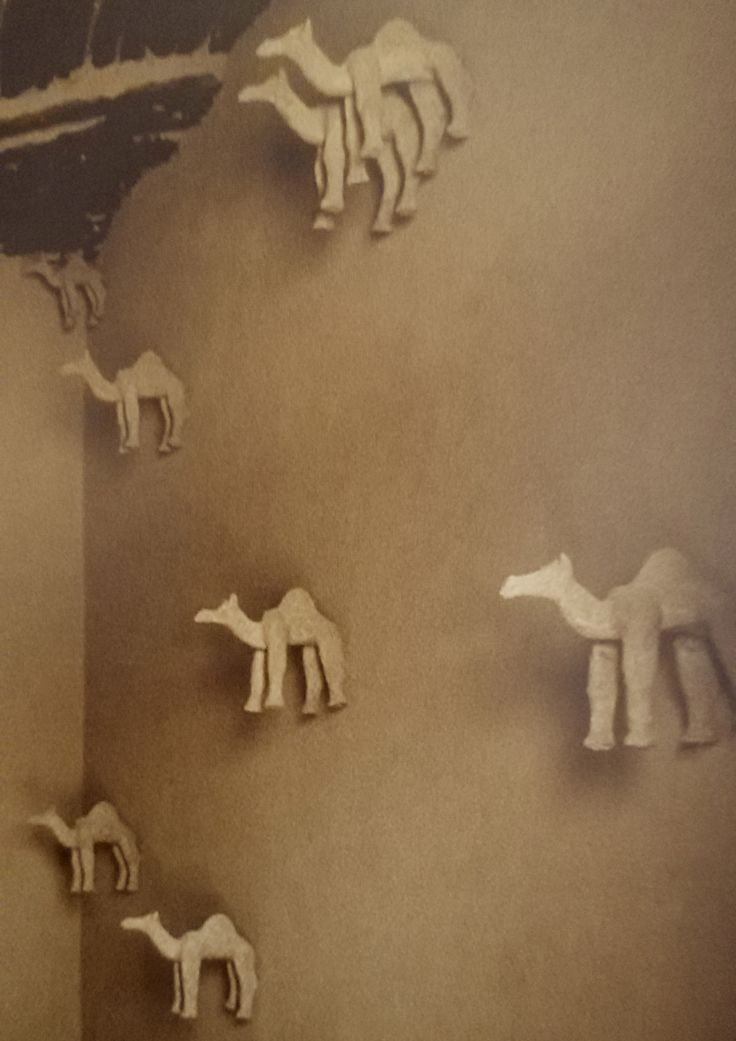 African house interior wall decoration.