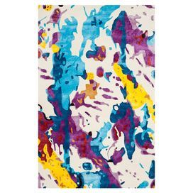 Anchor your living room seating group or define space in the den with this artfully handcrafted wool rug, featuring a multicolor splatter motif for abstract style.  Product: RugConstruction Material: WoolColor: MultiFeatures:  Hand-tuftedMade in India Note: Please be aware that actual colors may vary from those shown on your screen. Accent rugs may also not show the entire pattern that the corresponding area rugs have.Cleaning and Care: Professional cleaning recommended
