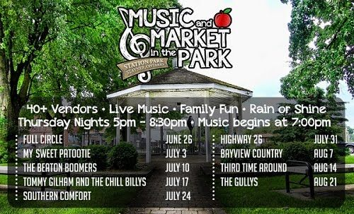 Come out and enjoy #Stayner's new weekly farmers' market along side a night of music! The farmers' market is 40 booths of produce, cheese, crafts and more! Bring your #family and #friends to enjoy local shopping and a fun night of live music.
