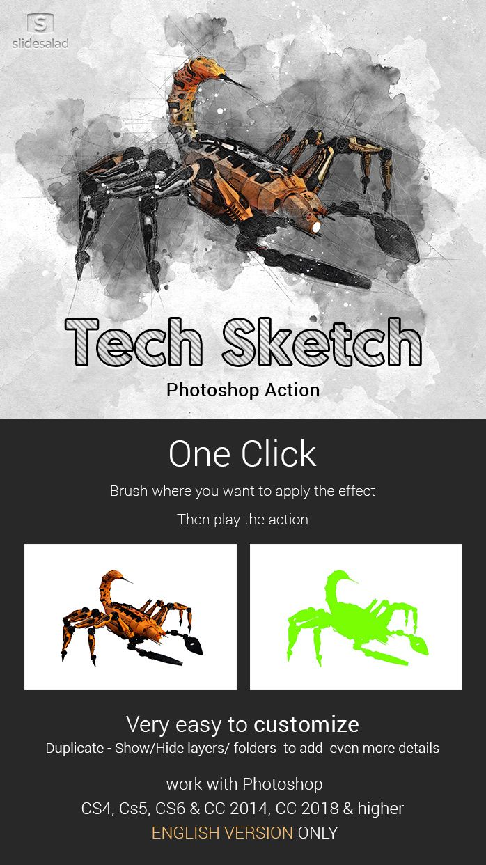 ff11ea0ded2 Contemporary Tech Sketch Art Photoshop Action Tech Sketch Art Photoshop  Action turns your photos into a masterpiece of a Contemporary Hand Drawn pen  and ...