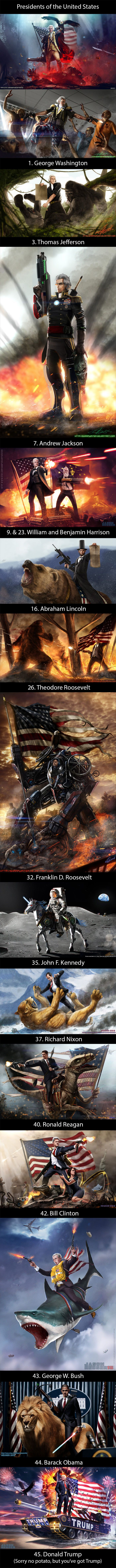 The most American presidental paintings (sharpwriter)