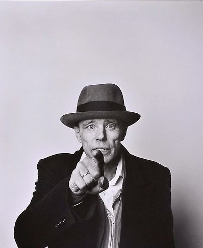 Joseph Beuys (1921-1986) - German Fluxus, happening and performance artist as well as a sculptor, installation artist, graphic artist, art theorist and pedagogue of art. Photo Laurence Sudre