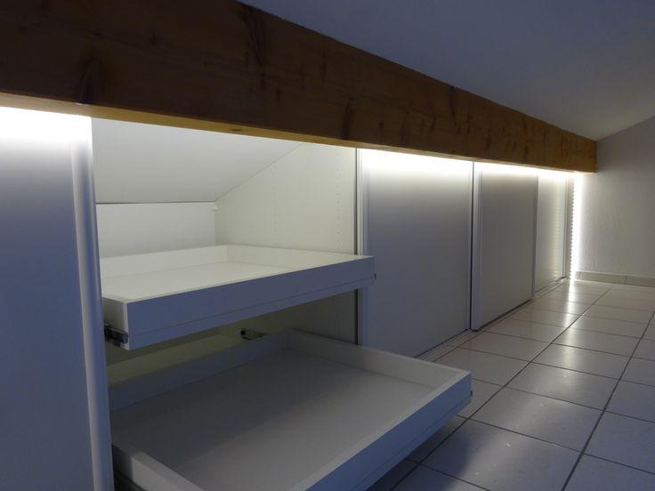 17 meilleures id es propos de porte coulissante sous for Porte douche sous pente