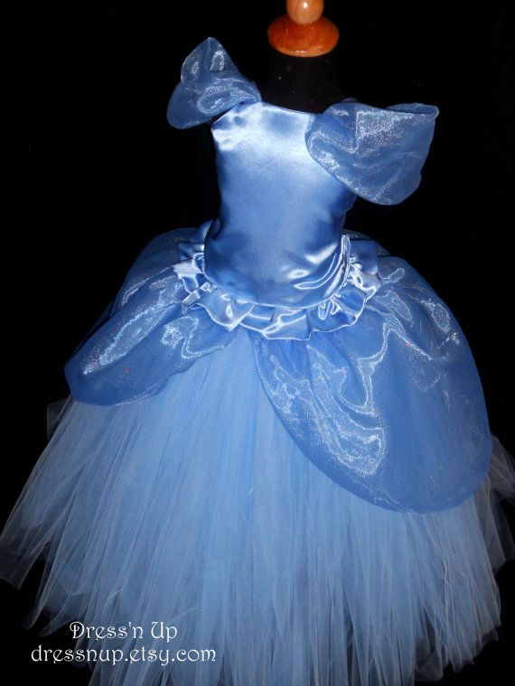 Toddler Girls Cinderella Princess Dress, Cinderella Costume, Halloween tutu dress 12mos - 3T