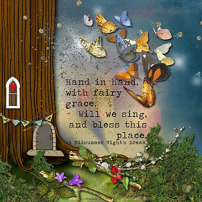 Hand in hand with fairy grace, Will we sing and bless this place