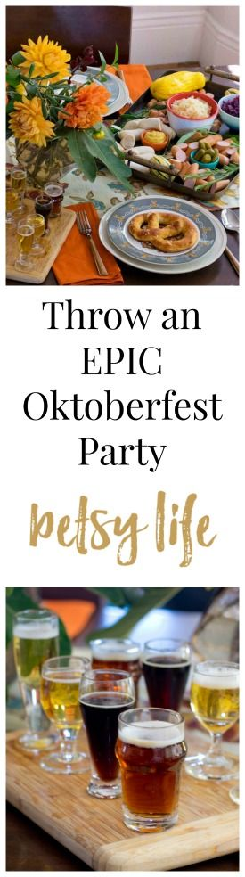 Recipes, decor and more! Everything you need to Throw an Epic Oktoberfest Party. Let's kick the celebration season off right.   *paid content*