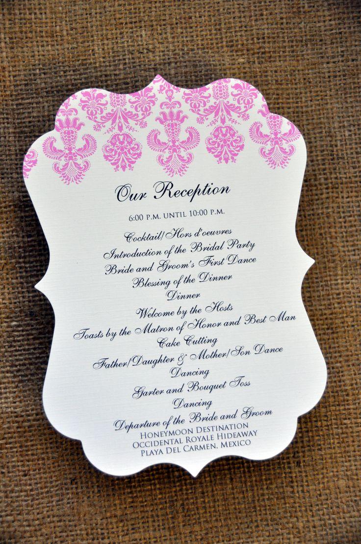 Wedding Program Samples - Reception program examples for weddings wedding programs for the reception wiregrass weddings