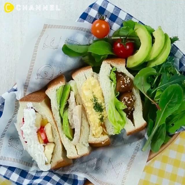 *** #リクエスト 頂きました♡Thank you for your request😉 たくさんの味が楽しめる#新朝食 🎵 #ポケサン♡ ■材料…