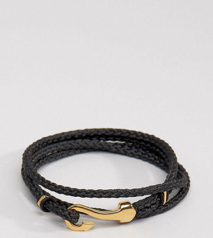 Seven London Hook Bracelet In Black Exclusive To ASOS