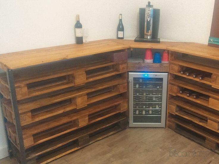 cave vin 100 palette ideas con palets cave palette et ideas. Black Bedroom Furniture Sets. Home Design Ideas