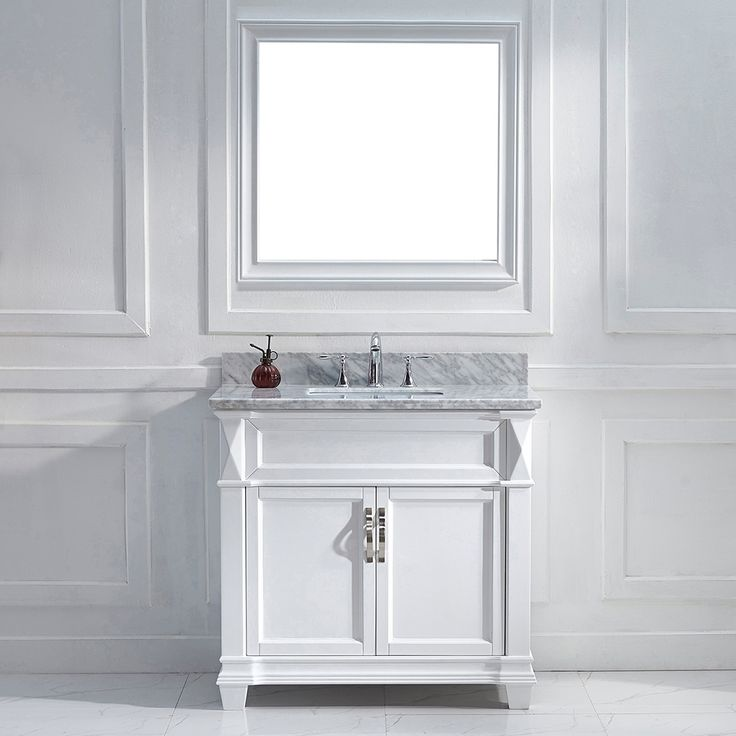 Contemporary Art Sites Victoria White Single Square Sink Vanity Set Overstock Shopping Great Deals on VIRTU Bathroom Vanities