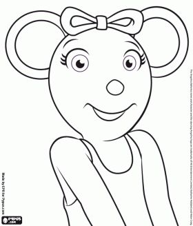 angelina ballerina loves the dance coloring page