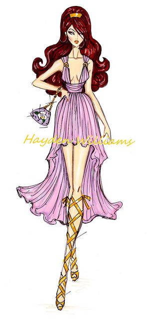 The Disney Divas collection by Hayden Williams: Megara by Fashion_Luva, via Flickr