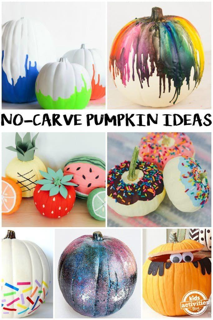 64 Creative No Carve Pumpkin Ideas To Make This Halloween