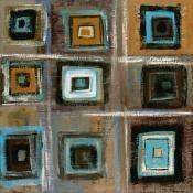 Nous avons observé et commenté cette oeuvre de Ricki Mountain en classe : Puis nous nous en sommes inspirés pour faire un collage en arts visuels : Nous avons d'abord collé des bandes de papier blanc sur une feuille carrée de couleur, pour faire un quadrillage...