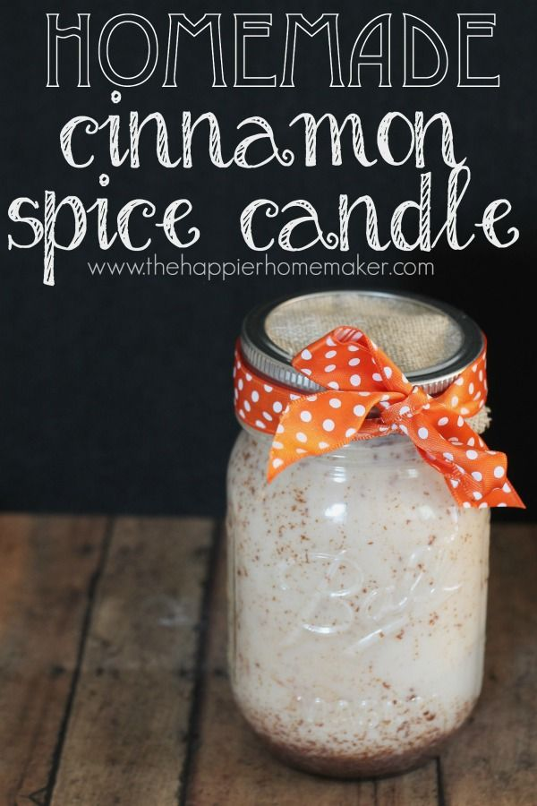 DIY Autumn Cinnamon Spiced Candle