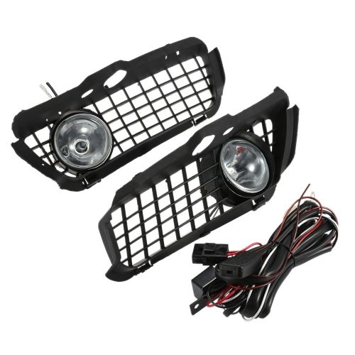 Car Front Fog Light Lamp Grille & Bright Fog Light Cover Set with Switch and Harness for VW Golf 3 Jetta 3 1992-1997